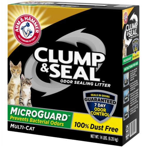 Arm & Hammer Clump & Seal Multi-Cat MicroGuard Litter Perspective: right