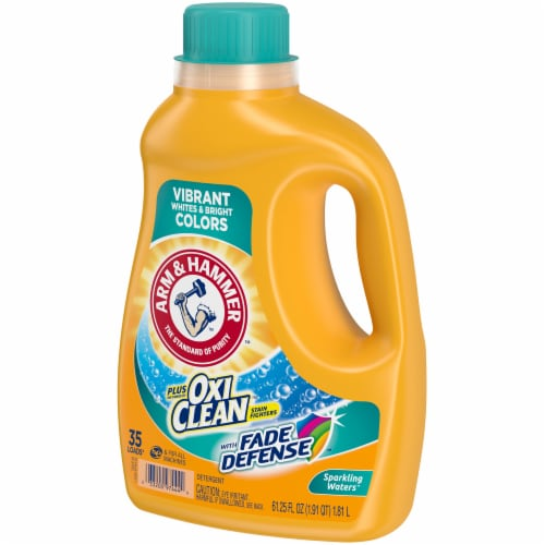 Arm & Hammer Plus OxiClean Fade Defense Sparkling Waters Liquid Laundry Detergent Perspective: right