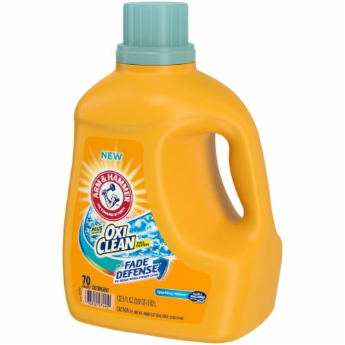 Arm & Hammer Plus OxiClean with Fade Defense Sparkling Waters Liquid Laundry Detergent Perspective: right