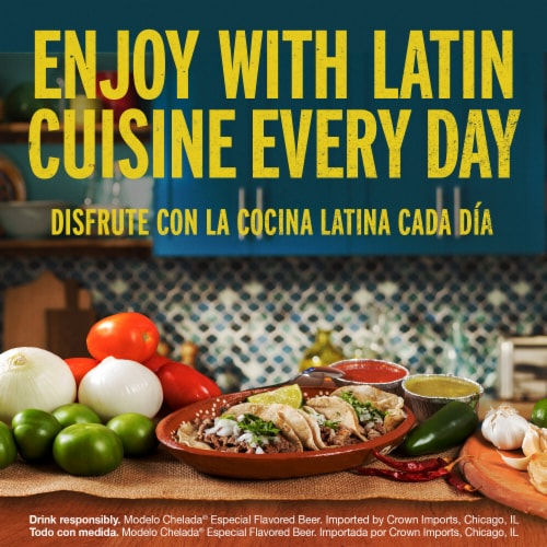 Modelo Chelada Mango y Chile Imported Beer Perspective: right