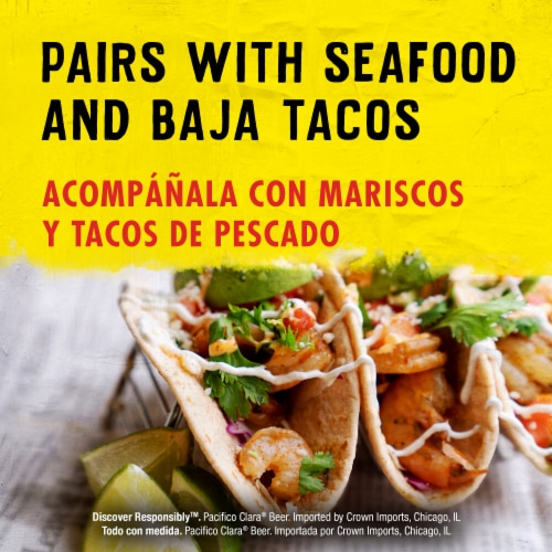 Pacifico Clara® Mexican Lager Beer Perspective: right