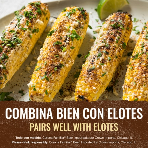 Corona Familiar Lager Beer Perspective: right