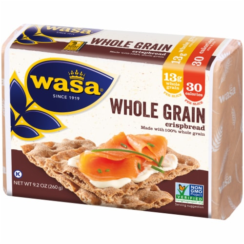 Wasa Whole Grain Crispbread Crackers Perspective: right