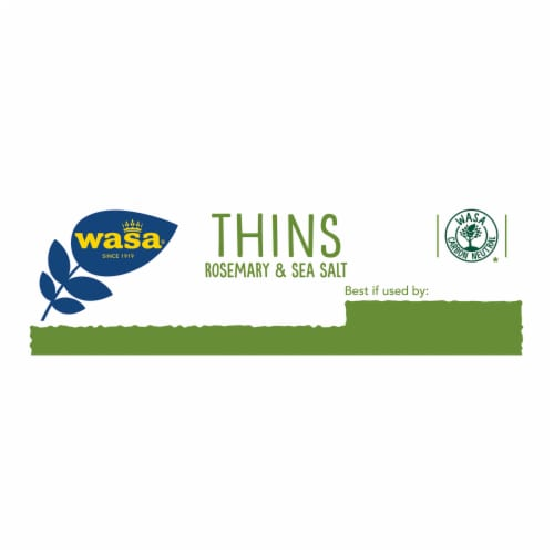 Wasa Thins Rosemary & Sea Salt Flatbread Perspective: right