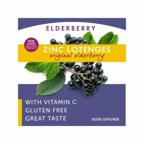 Nature's Way Organic Elderberry Sambucus Zinc Lozenges Perspective: right