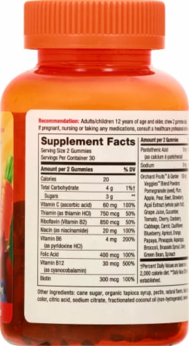Nature's Way Alive! Cherry Flavored B-Complex Gummies Perspective: right
