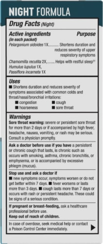 Nature's Way Umcka Cold Care Day & Night Lemon Citrus Flavored Packets Perspective: right