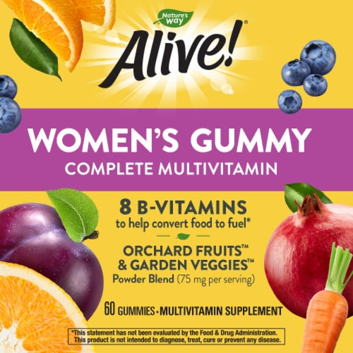 Nature's Way Alive! Mixed Berry Women's Multi-Vitamins Gummies Perspective: right