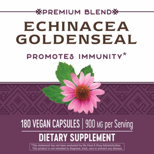 Nature's Way Echinacea Goldenseal Capsules Perspective: right