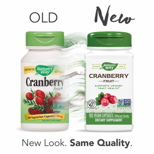 Nature's Way Cranberry Fruit Dietary Supplement Capsules 930mg Perspective: right