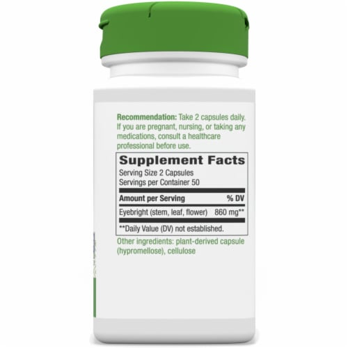 Nature's Way Eyebright Herb Capsules 860 mg Perspective: right