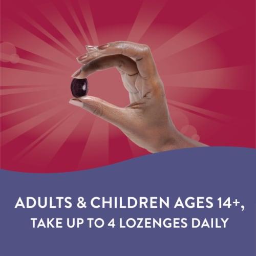 Nature's Way Sambucus Elderberry Wild Cherry Flavored Vitamin C Lozenges Perspective: right