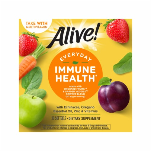 Nature's Way Alive! Everyday Immune Health Dietary Supplement Softgels Perspective: right