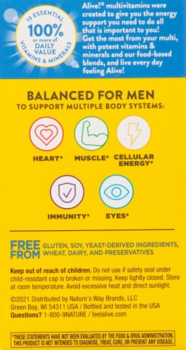 Nature's Way® Alive!® Mens Energy Complete Multivitamin Perspective: right