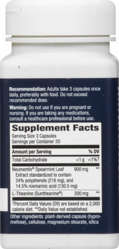 Nature's Way Sustained Focus Dietary Supplement Perspective: right