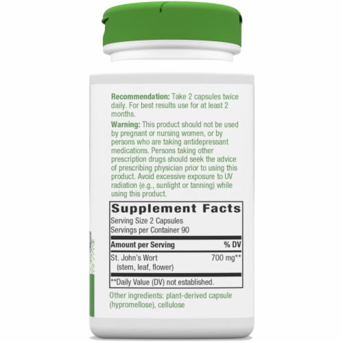 Nature's Way St. John's Wort Capsules 350 mg Perspective: right