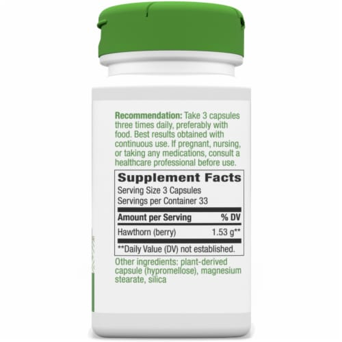 Nature's Way Hawthorn Berries Capsules 510 mg Perspective: right