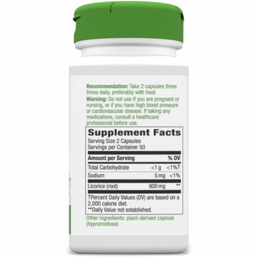 Nature's Way Licorice Root Capsules 450 mg Perspective: right