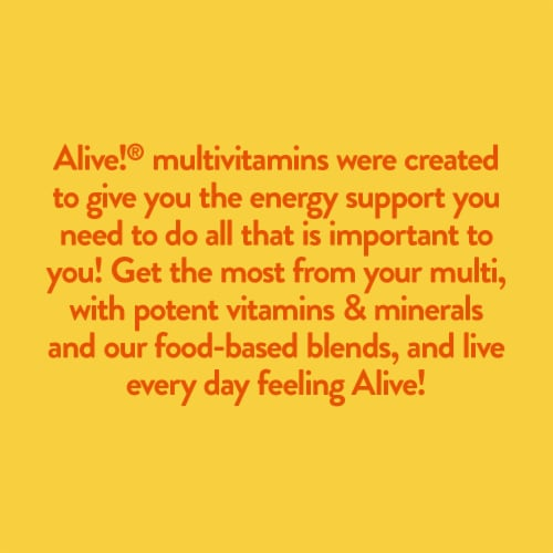 Nature's Way Alive! Whole Food Energizer Multi-Vitamin Tablets Perspective: right