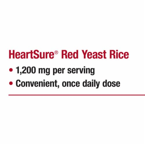 Nature's Way® Heartsure Red Yeast Rice Tablets 1200 mg Perspective: right