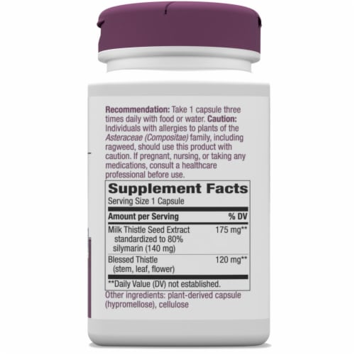 Nature's Way Milk Thistle Standardized Capsules Perspective: right