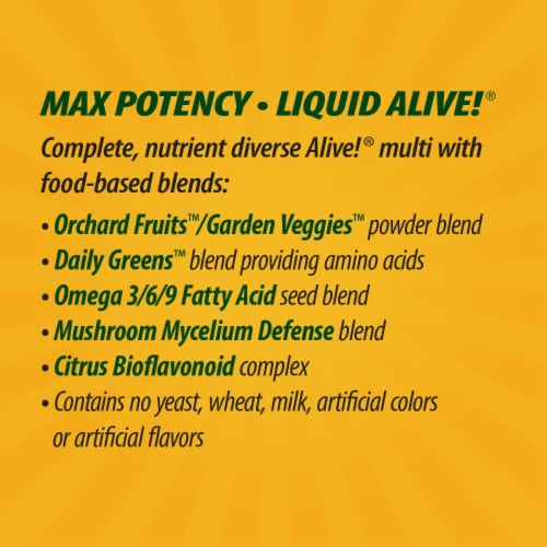 Nature's Way Alive! Whole Food Energizer Liquid Multi-Vitamin Perspective: right