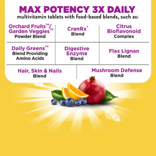 Nature's Way Alive! Women's Max 3 Daily Energizer Muli-Vitamin Supplement Tablets Perspective: right