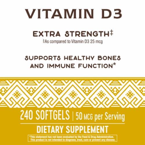 Nature's Way Vitamin D3 Softgels 50mcg Perspective: right