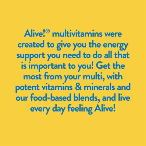 Nature's Way Alive! Once Daily Men's Ultra Potency Multi-Vitamin Tablets Perspective: right