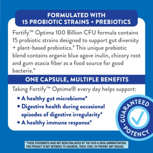 Nature's Way Fortify Optima Max Potency Probiotic Capsules Perspective: right