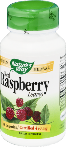 Nature's Way Red Raspberry Leaves Capsules Perspective: right
