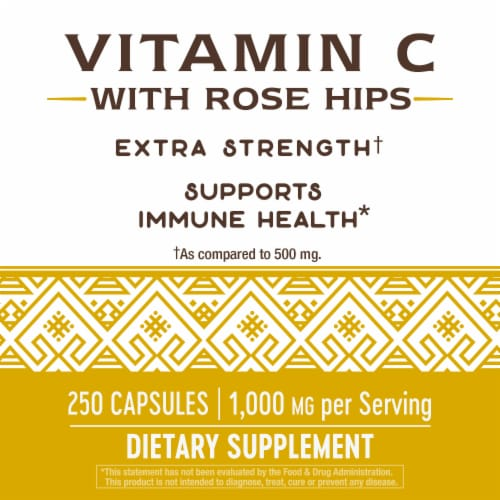 Nature's Way Vitamin C Extra Strength Capsules Perspective: right