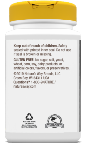 Nature's Way Magnesium Complex Dietary Supplement Capsules 500mg Perspective: right