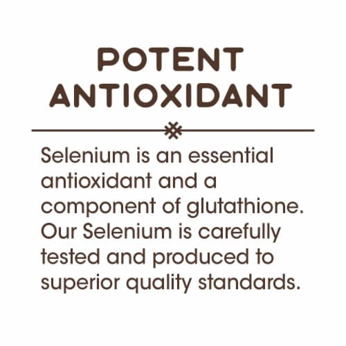 Nature's Way Selenium Yeast-Free Potent Antioxidant Capsules 200mcg Perspective: right