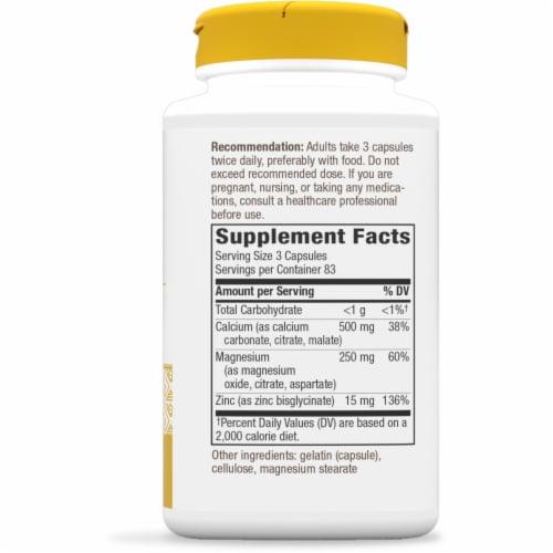 Nature's Way Calcium Magnesium and Zinc Capsules Perspective: right