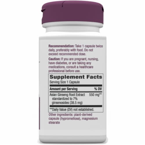 Nature's Way Korean Ginseng Standardized Tablets Perspective: right