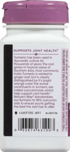 Nature's Way Tumeric Tablets 500mg Perspective: right
