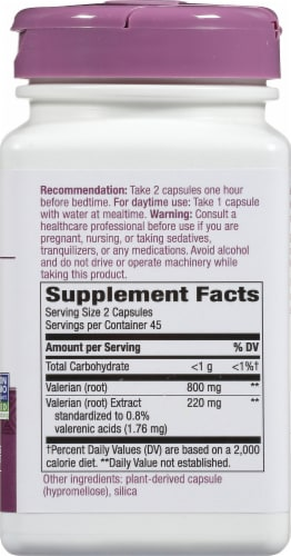 Nature's Way Valerian Capsules 220mg Perspective: right