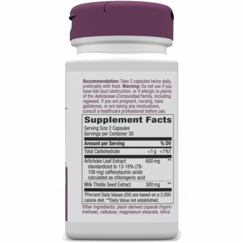 Nature's Way Artichoke Standardized Capsules Perspective: right