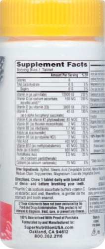 Super Nutrition  SimplyOne® Wild-Berry Chewable Womens Vitamins Perspective: right