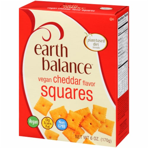 Earth Balance Vegan Cheddar Flavor Squares Perspective: right