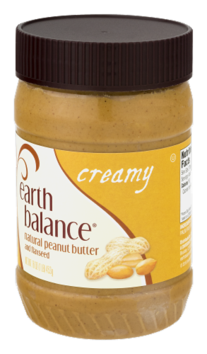 Earth Balance Creamy Natural Peanut Butter Perspective: right