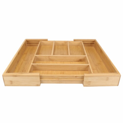 Danesco Eco-friendly Bamboo Expandable Drawer Organizer Perspective: right