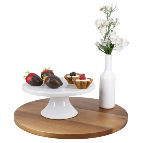 BIA Cordon Bleu Round Porcelain Pedestal Cake Stand Perspective: right