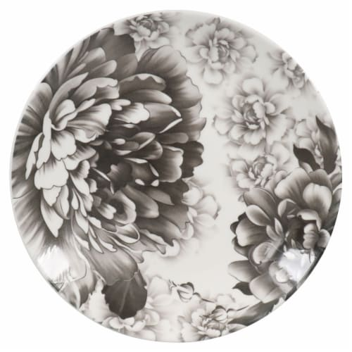 BIA Cordon Bleu Peony Salad Plate - Gray Perspective: right