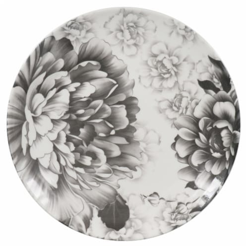 BIA Cordon Bleu Peony Dinner Plate - Gray Perspective: right
