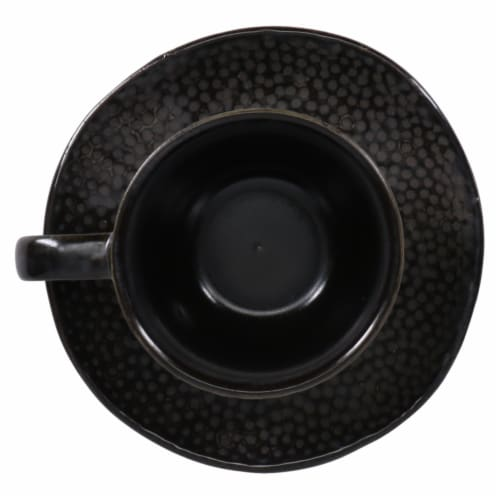 BIA Cordon Bleu Serene Demitasse Cup and Saucer Set - Black Perspective: right