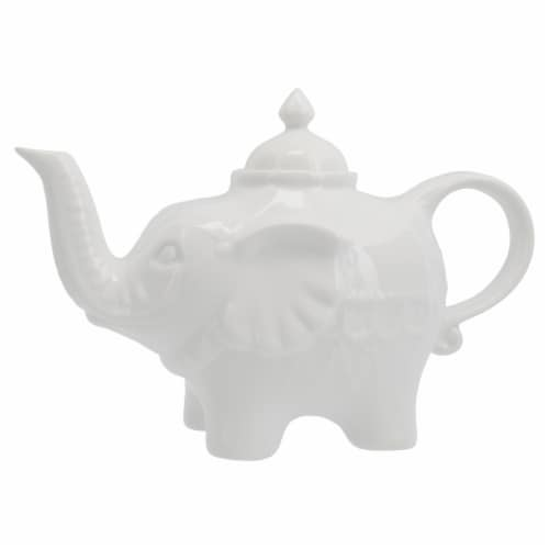 BIA Cordon Bleu Porcelain Elephant Teapot - White Perspective: right