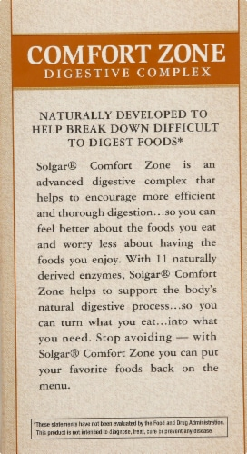 Solgar Comfort Zone Digestive Complex Capsules Perspective: right