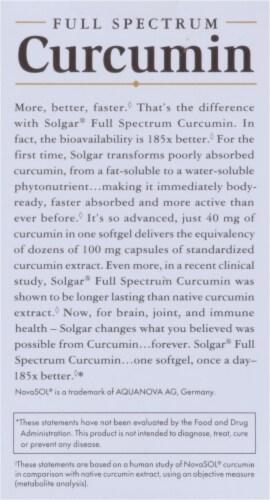 Solgar Full Spectrum Curcumin Dietary Supplement Softgels Perspective: right